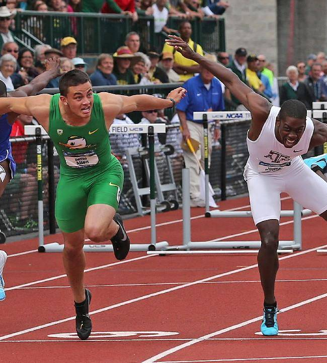 Oregon WR Allen says football comes before track