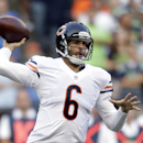 Chicago Bears quarterback Jay Cutler throws against the Seattle Seahawks in the first half of a preseason NFL football game, Friday, Aug. 22, 2014, in Seattle The Associated Press