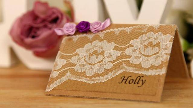 How To Make Wedding Place Cards