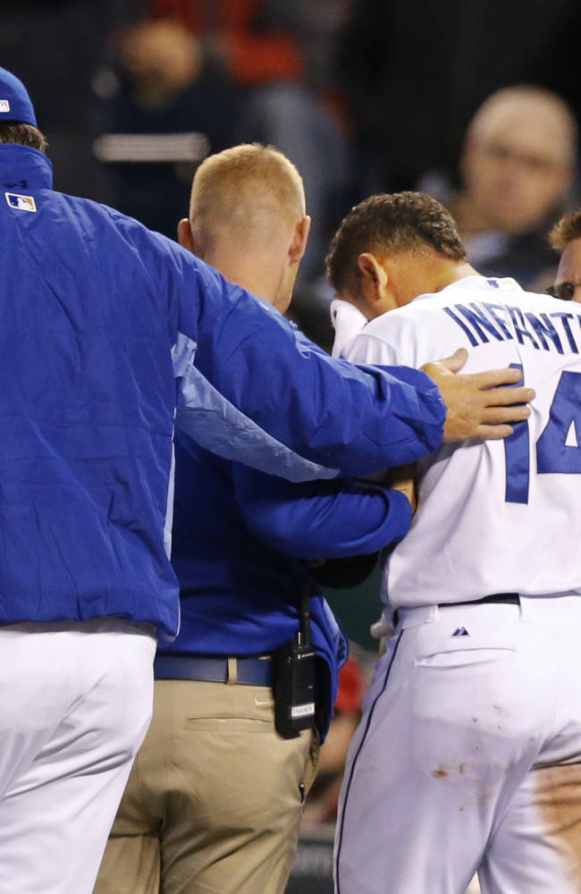 Royals expect Infante to be back for weekend trip