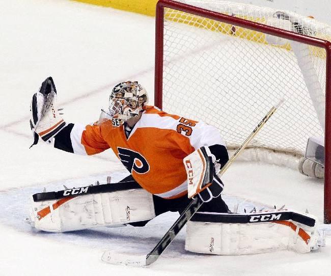 Mason makes 33 saves, Flyers beat Red Wings 5-0