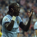 Manchester City's Bacary Sagna gestures during the Champions League group E soccer match between Bayern Munich and Manchester City in Munich, Germany, Wednesday Sept.17,2014