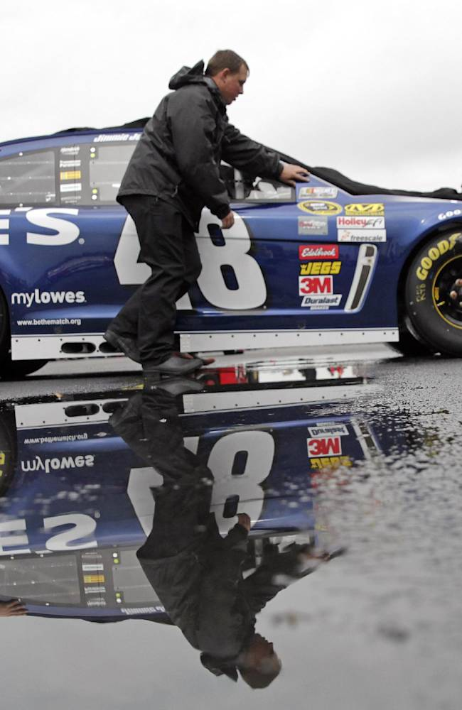 Talladega qualifying rained out; Almirola on pole