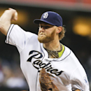 San Diego Padres starting pitcher Andrew Cashner works against the Colorado Rockies in the first inning of a baseball game Wednesday, April 16, 2014, in San Diego The Associated Press