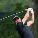 Jul 31, 2016; Springfield, NJ, USA; PGA golfer Jason Day tees off on the 16th hole during the Sunday round of the 2016 PGA Championship golf tournament at Baltusrol GC - Lower Course. Mandatory Credit: Brian Spurlock-USA TODAY Sports