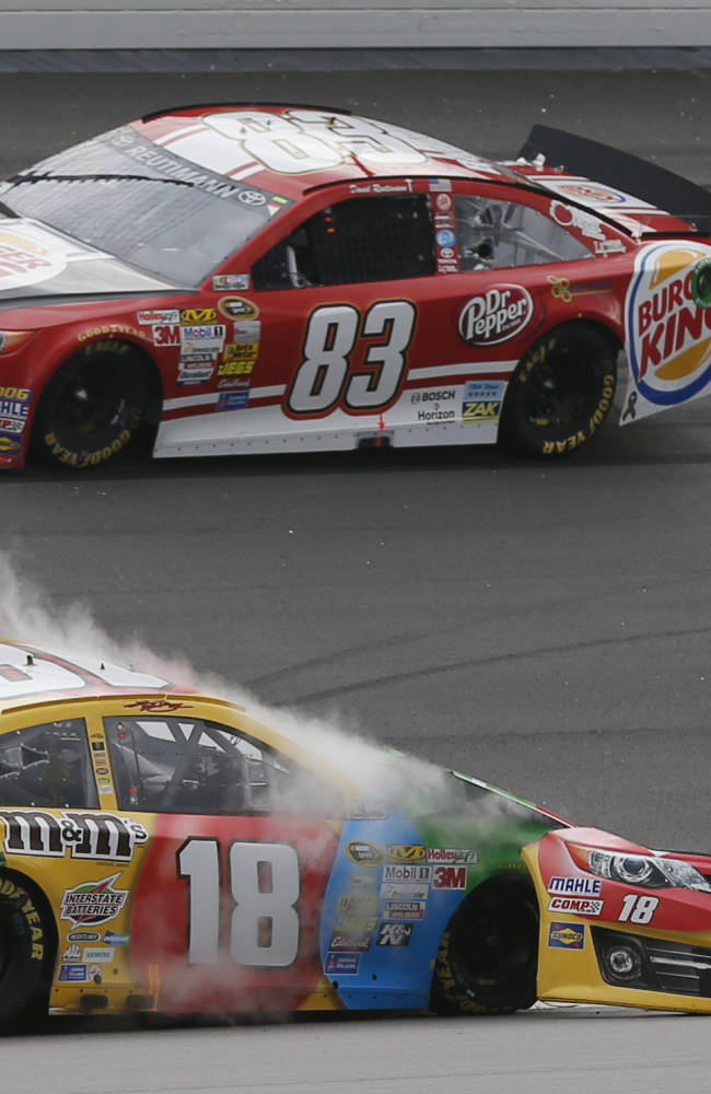 Kansas Speedway bites Kyle Busch one more time