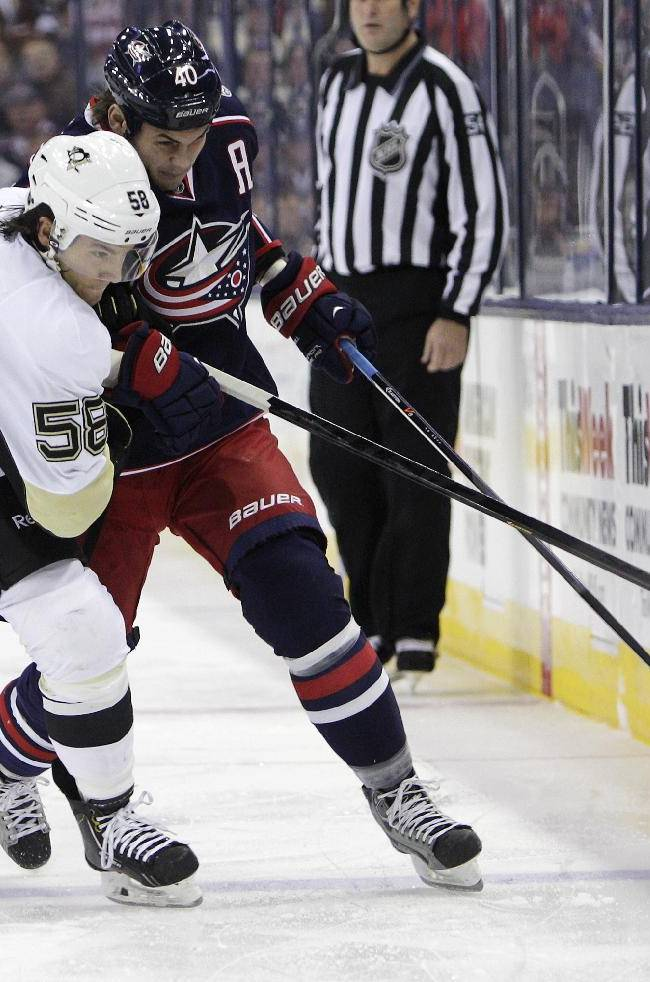 Pens' Zatkoff shuts out CBJ 3-0 for 1st NHL win