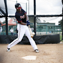 Atlanta Braves center fielder B.J. Upton hits a pitch during a spring training baseball workout, Monday, Feb. 24, 2014, in Kissimmee, Fla The Associated Press