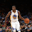 Oakland, CA- OCTOBER 24: Justin Holiday #7 of the Golden State Warriors handles the ball against the Denver Nuggets at the Oracle Arena in Oakland, California on October 24, 2014 . (Photo by Noah Graham /NBAE via Getty Images)