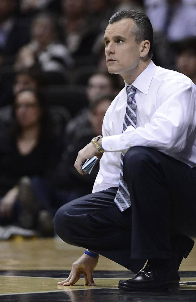 Florida head coach Billy Donovan watches his team play in the second half of an NCAA college basketball game against Vanderbilt, Tuesday, Feb. 25, 2014, in Nashville, Tenn. Florida won 57-54