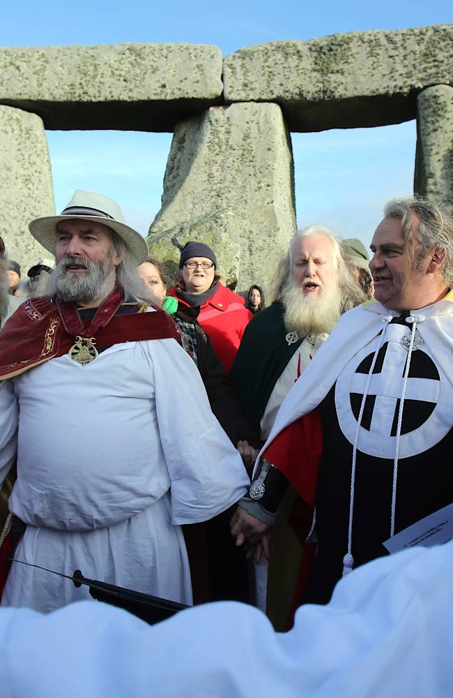 Druids Celebrate Winter Solstice At Stonehenge