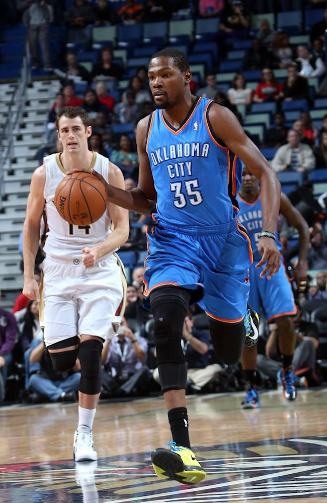Durant leads Thunder over Pelicans, 109-95