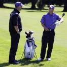 In this photo taken on Monday, May 13, 2013, University of Washington golfer Chris Williams, right, talks with coach Matt Thurmond during a practice round at the Seattle Golf Club in Seattle. Williams, a senior, is currently ranked as the world's No. 1 amateur golfer. Quiet and unassuming, he will head to the NCAA championships next week in Atlanta looking for an individual title to cap his college career.  (AP Photo/Ted S. Warren)