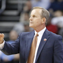 Texas head coach Rick Barnes works his team against Butler during the first half of an NCAA tournament second round college basketball game, Thursday, March 19, 2015, in Pittsburgh. (AP Photo/Gene J. Puskar)