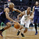 Bradley scores 22 as Celtics top Bobcats 106-103 The Associated Press