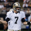 New Orleans Saints quarterback Luke McCown (7) reacts after an incomplete pass in the first half of an NFL football game against the Tennessee Titans in New Orleans, Friday, Aug. 15, 2014 The Associated Press