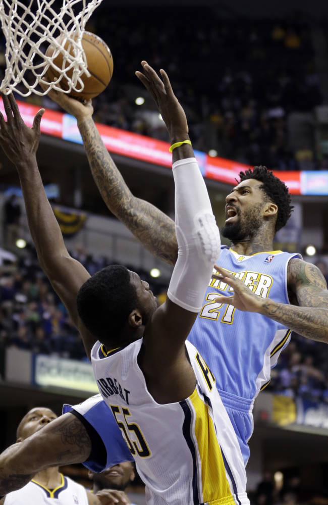 Pacers roll past short-handed Nuggets 119-80
