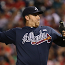 Atlanta Braves starting pitcher Aaron Harang throws in the first inning of a baseball game against the Philadelphia Phillies, Saturday, Sept. 27, 2014, in Philadelphia The Associated Press