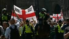 Anti-Islamist English Defense League takes to streets of Newcastle