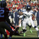 Seattle Seahawks running back Marshawn Lynch (24) rushes for a touchdown in the first half of an NFL football game against the San Francisco 49ers, Sunday, Dec. 8, 2013, in San Francisco The Associated Press