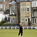 South Korea's Inbee Park watches her shot on the first fairway during the first round of the Women's British Open golf championship on the Old Course at St Andrews, Scotland, Thursday Aug. 1, 2013. The 25-year-old from South Korea already has won three majors this year. She is trying to become the first golfer, male or female, to win four in one season. (AP Photo/Scott Heppell)