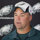 Philadelphia Eagles defensive coordinator Bill Davis speaks to members of the media during NFL football practice at the team's training facility, Tuesday, Sept. 30, 2014, in Philadelphia The Associated Press