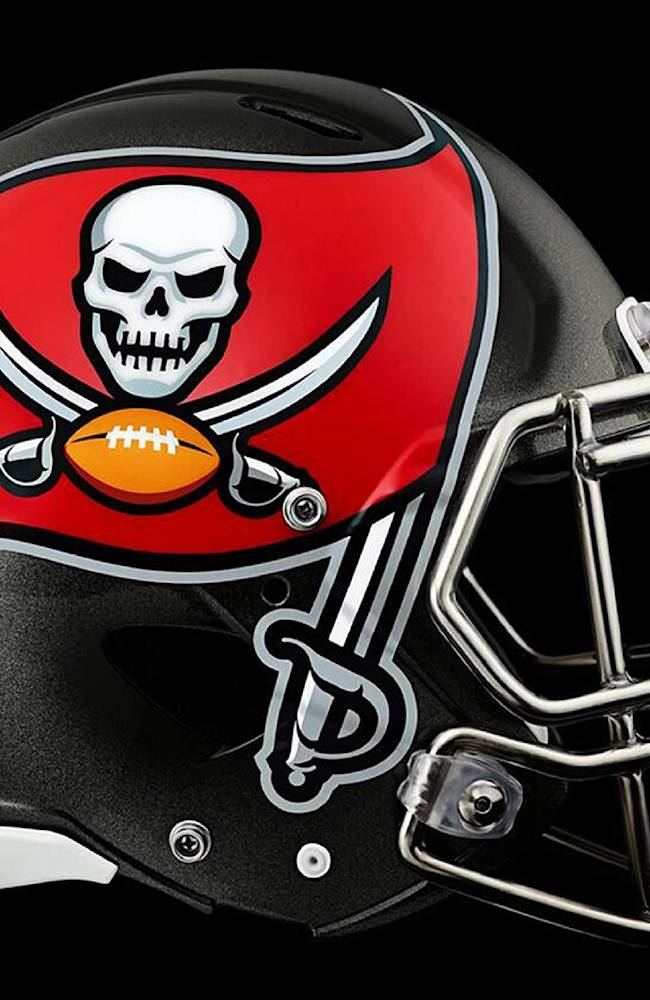 This image provided by the Tampa Bay Buccaneers shows the new team helmet logo which was unveiled Thursday, Feb. 20, 2014, in Tampa, Fla