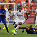 IMAGE DISTRIBUTED FOR GUINNESS INTERNATIONAL CHAMPIONS CUP - Inter Milan defender Juan Jesus (5) eludes multiple defenders during a match between Inter Milan and Manchester United in the 2014 Guinness International Champions Cup on July,29,2014 in Landove