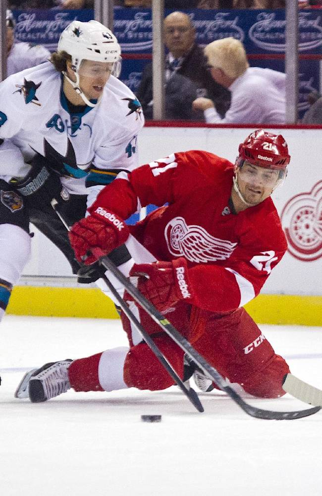 Surging Sharks shut out Red Wings 1-0