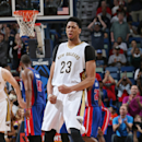NEW ORLEANS, LA - MARCH 4: Anthony Davis #23 of the New Orleans Pelicans during the game against the Detroit Pistons on March 4, 2015 at Smoothie King Center in New Orleans, Louisiana. (Photo by Layne Murdoch Jr./NBAE via Getty Images)