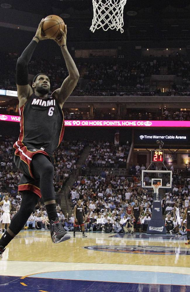 James, Heat complete sweep of Bobcats, 109-98