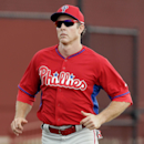 Philadelphia Phillies second baseman Chase Utley runs the bases during spring training baseball practice Monday, Feb. 24, 2014, in Clearwater, Fla The Associated Press