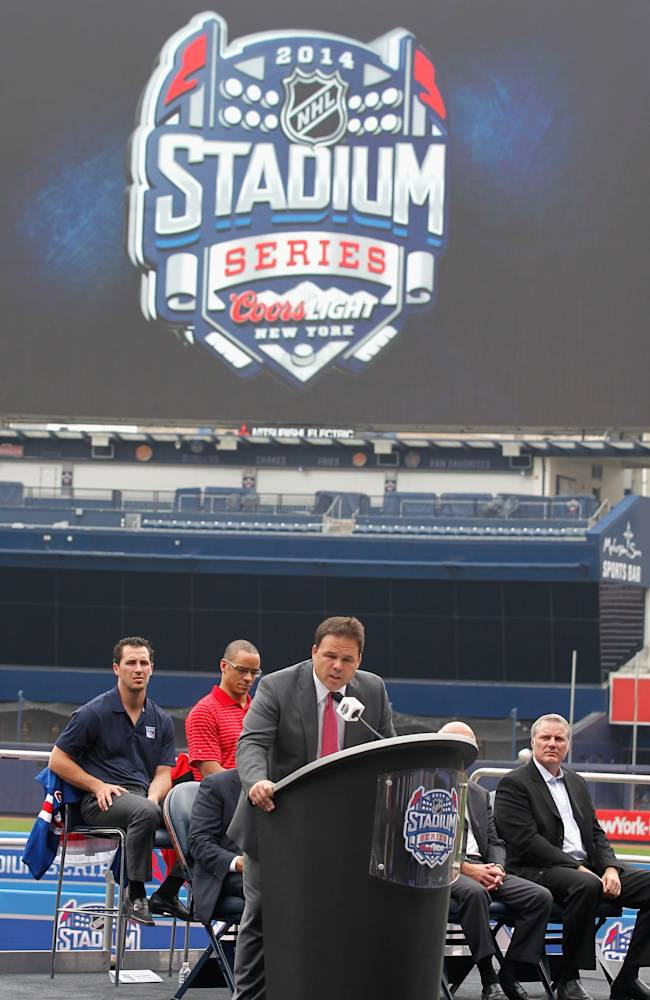 2014 NHL Stadium Series Media Availability
