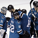 Burns has hat trick in Sharks' 6-3 win over Blues The Associated Press