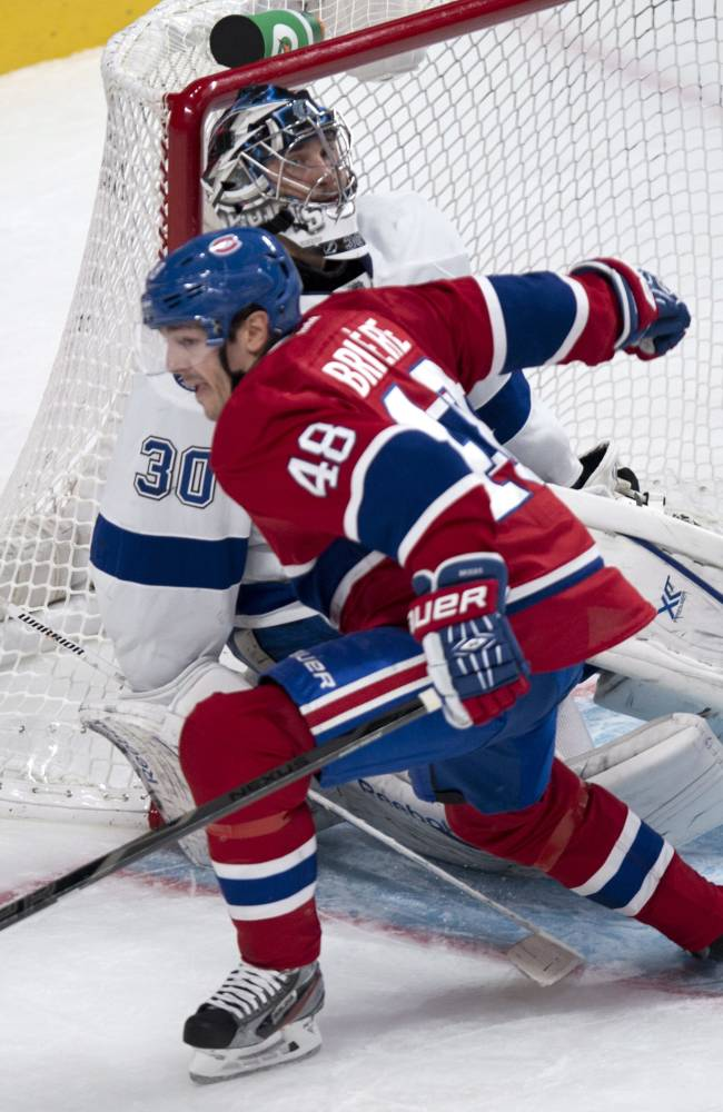 Lightning slip past Canadiens 2-1 in shootout