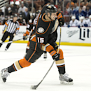 The Ducks' Ryan Getzlaf fires a shot during a game against the Maple Leafs at Honda Center on Wednesday Jan. 14, 2015 The Associated Press
