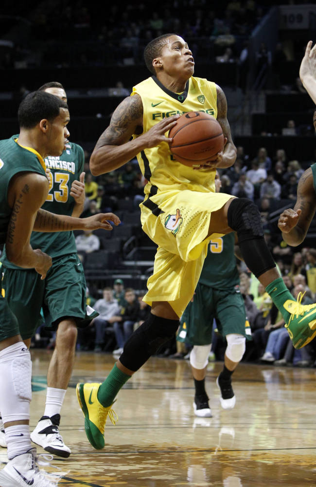 Cook helps No. 17 Oregon beat San Francisco 100-82
