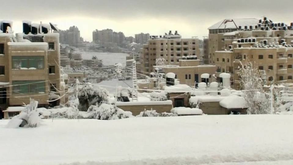 Snowy weather in the Middle East