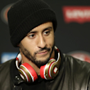 San Francisco 49ers quarterback Colin Kaepernick talks to the media after the Seattle Seahawks defeated the 49ers 17-7 in an NFL football game, Sunday, Dec. 14, 2014, in Seattle The Associated Press