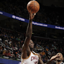 CLEVELAND, OH - MARCH 4: Anthony Bennett #15 of the Cleveland Cavaliers goes up for the shot against the San Antonio Spurs at The Quicken Loans Arena on March 4, 2014 in Cleveland, Ohio. (Photo by David Liam Kyle/NBAE via Getty Images)