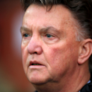 Manchester United manager Louis van Gaal looks on before the English Premier League match against Crystal Palace at Old Trafford, Manchester England Saturday Nov. 8, 2014