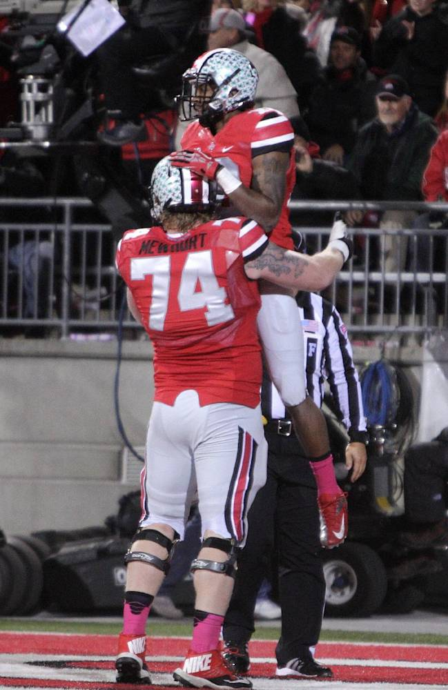 Buckeyes win big, but stay the same in polls