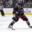 Columbus Blue Jackets' Brandon Dubinsky plays against the Pittsburgh Penguins during Game 6 of a first-round NHL playoff hockey series Monday, April 28, 2014, in Columbus, Ohio. (AP Photo/Jay LaPrete)