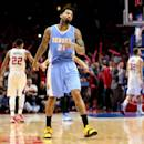 LOS ANGELES, CA - JANUARY 26:  Wilson Chandler #21 of the Denver Nuggets reacts after the final buzzer of the game against the Los Angeles Clippers at Staples Center on January 26, 2015 in Los Angeles, California.  The Clippers won 102-98.  NOTE TO USER: User expressly acknowledges and agrees that, by downloading and or using this photograph, User is consenting to the terms and conditions of the Getty Images License Agreement.  (Photo by Stephen Dunn/Getty Images)