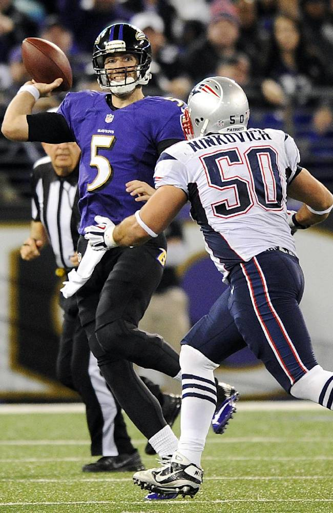 Turnovers by Pats' defense fuel rout of Ravens