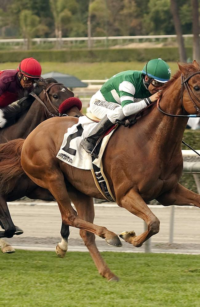 Candy Boy wins Santa Anita feature race