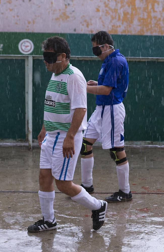 AP PHOTOS: Blind find game in Mexico soccer league