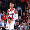 PORTLAND, OR - APRIL 27: Damian Lillard #0 of the Portland Trail Blazers during the game against the Memphis Grizzlies in Game Four of the Western Conference Quarterfinals during the 2015 NBA Playoffs on April 27, 2015 at the Moda Center in Portland, Oregon. (Photo by Sam Forencich/NBAE via Getty Images)
