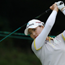 So Yeon Ryu, of South Korea, watches her shot on the third hole during second round play at the Canadian Pacific Women's Open golf tournament in London, Ontario, Friday, Aug. 22, 2014. (AP Photo/The Canadian Press, Dave Chidley)