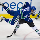 Vancouver Canucks' Derek Dorsett (51) and Dallas Stars' Jyrki Jokipakka, of Finland, collide during the second period of an NHL hockey game Wednesday, Dec. 17, 2014, in Vancouver, British Columbia The Associated Press